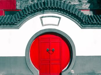 Chine porte rouge